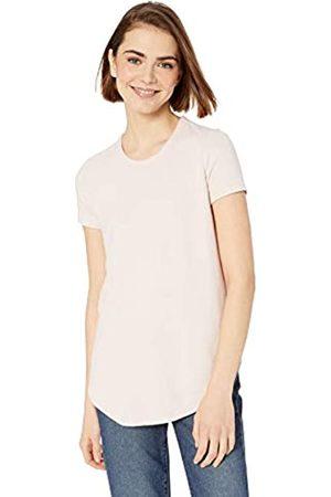 Daily Ritual Amazon-Marke: , gemütliches Damenshirt, kurzarm, mit Hemdsaum, Pink