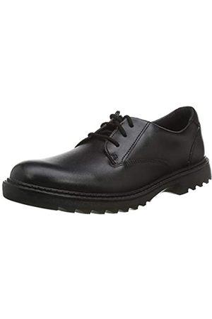 Clarks Jungen Asher Jazz Y Derbys, (Black Leather Black Leather)