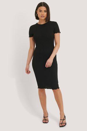 NA-KD T-Shirt-Kleid - Black