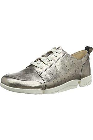 Clarks Damen TriAmelia Edge Sneaker, (Stone Stone)