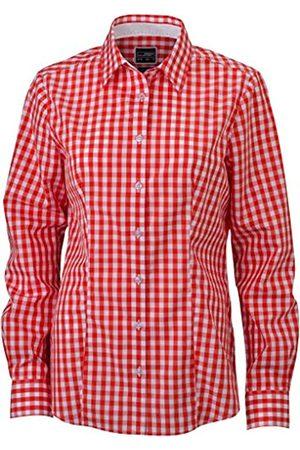 James & Nicholson Damen Ladies' Checked Blouse Bluse