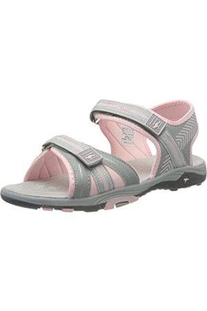 KangaROOS Unisex-Kinder K-Lane Sneaker, (Vapor Grey/Frost Pink 2063)