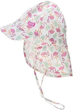 Döll Mädchen Bindemütze mit Schirm und Nackenschutz Mütze|