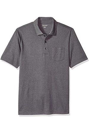 Amazon Herren-Poloshirt, reguläre Passform, mit Brusttasche, aus Jersey
