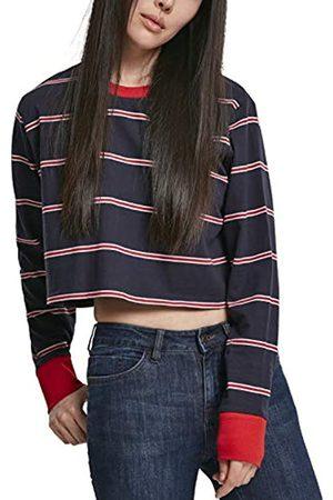 Urban classics Damen Ladies Short Yarn Dyed Skate Stripe LS Langarmshirt
