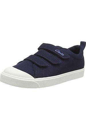 Clarks Unisex-Kinder City Vibe K Sneaker, (Navy Canvas Navy Canvas)