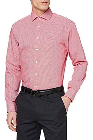 Seidensticker Herren Kariertes Hemd mit Kent-Kragen und einem hohen Passform Shaped Fit – Langarm – 100% Baumwolle Businesshemd