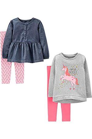 Simple Joys by Carter's Baby & Kleinkind Mädchen 4-teiliges Langarmshirt & Hosen Playwear Set