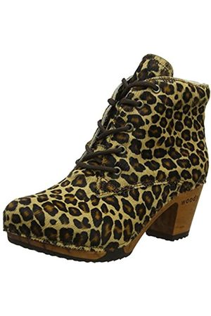 Woody Damen Betty Stiefeletten, Mehrfarbig (Leopard 078)