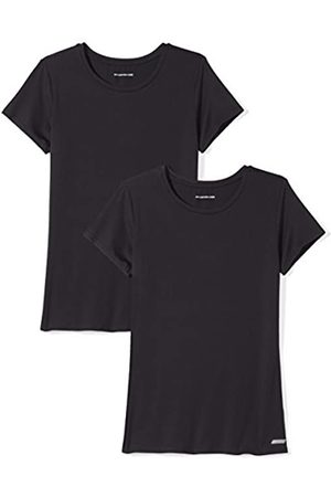 Amazon 2-Pack Tech Stretch Short-Sleeve Crew T Athletic-Shirts, Black