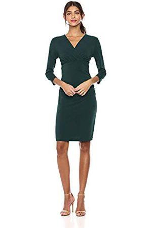 Lark & Ro Crepe Knit Empire Cross Over Wrap Dress Kleid