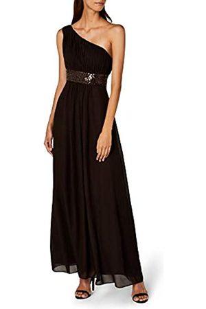 Astrapahl Damen Kleid One Shoulder mit Pailletten, Maxi, Einfarbig, Gr. 42