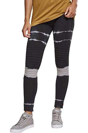 Urban classics Damen Ladies Striped Tie Dye Biker Leggings