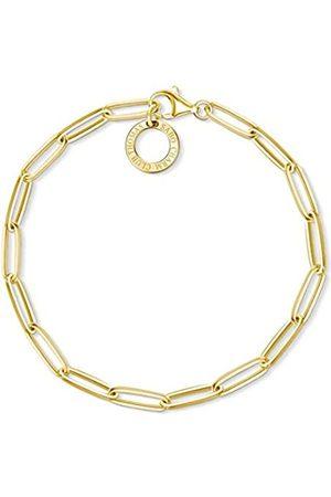 Thomas Sabo Damen-Armband Charm Club 925 Sterling Silber gelbgold vergoldet Länge 15.5 cm X0253-413-39-L15