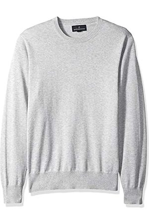 Buttoned Down Amazon-Marke: Herren-Pullover aus Supima-Baumwolle, leicht, Rundhalsausschnitt, grey