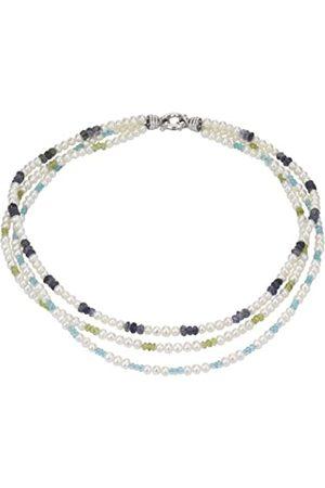 Pearl Dreams Damen-Halskette ohne Anhänger 925 Sterling Silber Süßwasser Zuchtperlen A2358-K40-SIR