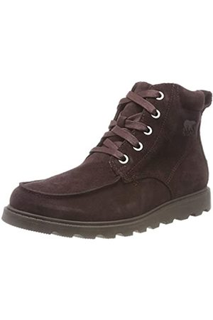 sorel Jungen Youth Madson Moc Toe Waterproof Wasserdichter Schuh, dunkelbraun (cattail/mud)