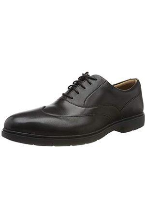 Clarks Herren Un Tailor Wing Derbys, (Black Leather Black Leather)