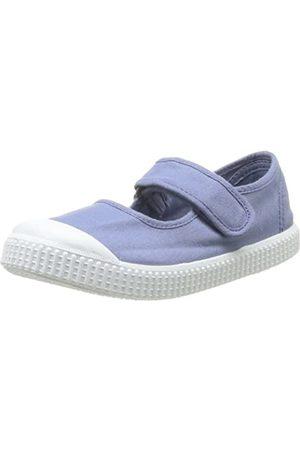 victoria Mercedes Velcro Lona Tinta, Mädchen Hohe Sneakers, (Azul)