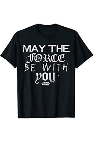 STAR WARS May The Force Be With You Fonts Graphic T-Shirt