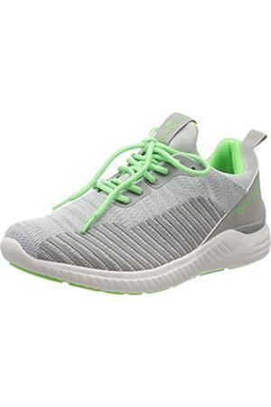 TOM TAILOR Herren 8082009 Sneaker, Mehrfarbig (Ltgrey-Neon Green 02650)