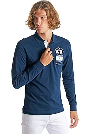La Martina Herren Man Polo L/s Piquet Stretch Poloshirt