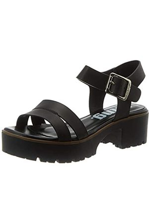 MTNG Collection Damen 58831 Peeptoe Sandalen, (Thick Vaqueta Negro C49118)