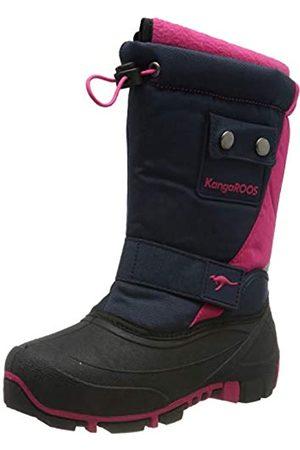 KangaROOS Unisex-Kinder Kanga-Bean II Schneestiefel, (Dk Navy/Daisy Pink 4204)