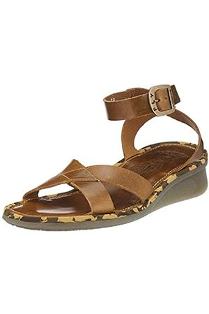Fly London Damen Ceni570fly Knöchelriemchen Sandalen, (Camel 001)
