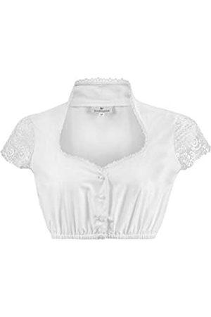 Stockerpoint Damen Dirndlbluse B-8058 Kleid für besondere Anlässe, Weiss