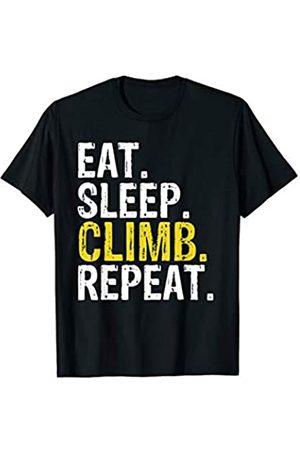 Eat Sleep Climb Repeat Tee Co. Eat Sleep Climb Repeat Climbing Gift T-Shirt