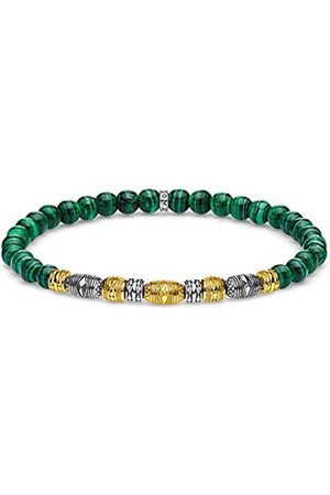 Thomas Sabo Unisex-Armband Talisman bicolor grün 925 Sterlingsilber gelbgold vergoldet A1920-140-6-L15