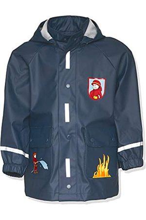 Playshoes Jungen Regen-Mantel Feuerwehr Regenmantel