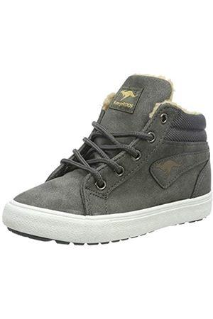 KangaROOS Unisex-Kinder KaVu I Hohe Sneaker, (Dk Grey/Sand 211)