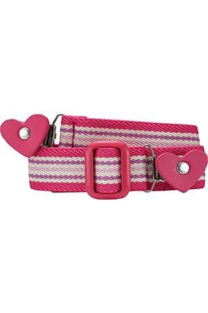 Playshoes Mädchen Gürtel 601231 Elastischer gestreifter Kindergürtel mit Clips in Herzform, passend bei Größe 74-110