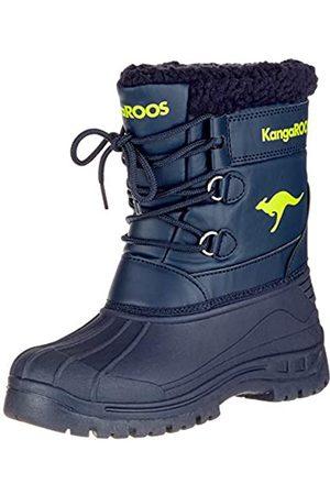 KangaROOS Unisex-Kinder Apol Boot Schlupfstiefel, (Dk Navy/Lime)