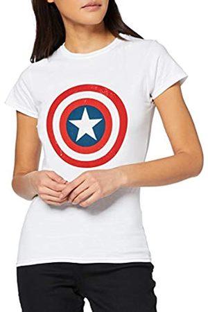 Marvel Damen T-Shirts, Polos & Longsleeves - Damen Avengers Captain America Distressed Shield