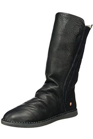 softinos Damen TEYA328SOF Smooth Leather Schlupfstiefel, (Black)