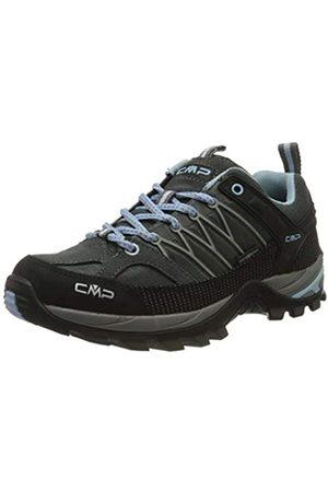 CMP Damen Rigel Low Wmn Shoe Wp Trekking- & Wanderhalbschuhe, (GRAFFITE-Azzurro 77BD)