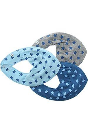 Pippi 3er Pack Baby Jungen Halstuch mit Aufdruck, Farbe: und Grau, One Size