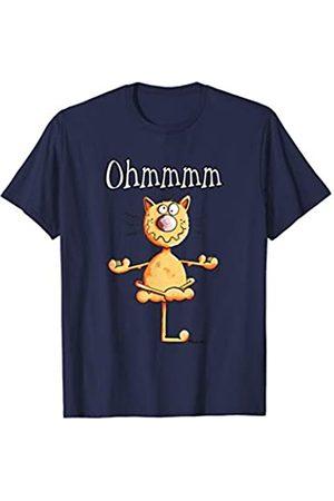 MODARTIS - Lustige Katzen T-Shirts & Geschenke Lustige Ohmmm Yoga Katze T Shirt Geschenk für Katzenfreunde