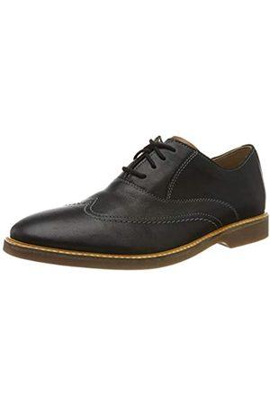 Clarks Herren Atticus Vibe Derbys, (Black Leather Black Leather)