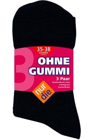 Nur Die Damen Gummi 3er Socken, Blickdicht