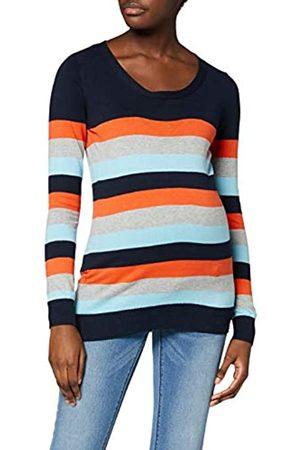 Mama Licious Damen MLKENNA L/S Multi Color Knit TOP A. Langarmshirt