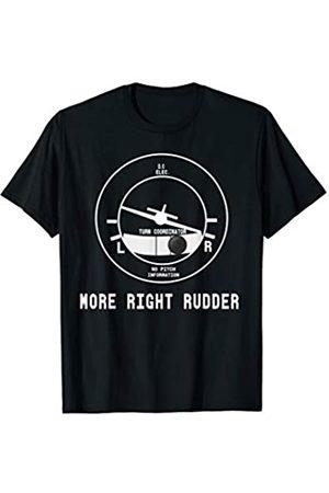 Designed For Flight Mehr Right Rudder CFI Flight Instructor Pilot lustig T-Shirt