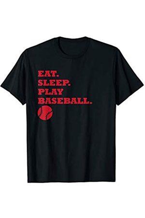 Geschenke für Baseball-Spieler von eMLomo Eat Sleep Play Baseball für Baseball-Spieler T-Shirt