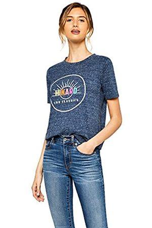 HIKARO Amazon-Marke: Damen Oversized-T-Shirt mit rundem Ausschnitt, 34
