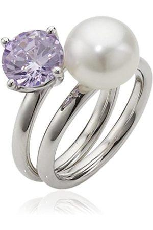 ADRIANA Damen-Ring Süßwasser Zuchtperlen purple rain 925 Silber Rainbow RAR-V-Gr.58