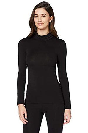IRIS & LILLY Amazon-Marke: Damen dünnes, wärmendes Thermounterwäsche Oberteil mit Rollkragen, 42