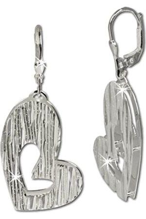 SilberDream Damen-Ohrhänger Doppelherz 925 Sterling Silber SDO324